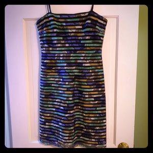 Bcbg MAXAZRIA mixed media strapless dress size 8